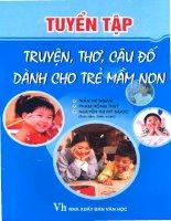 tuyển tập truyện, thơ, câu đố dành cho trẻ mầm non (nxb văn học 2009) - trần thị ngân