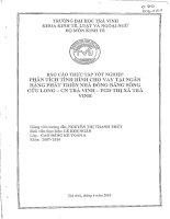 báo cáo thực tập tốt nghiệp: phân tích tình hình cho vay tại ngân hàng phát triển nhà đb scl