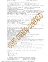 tuyển tập các câu hỏi trắc nghiệm vật lý lớp 12