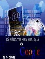 KỸ NĂNG tìm KIẾM HIỆU QUẢ với google