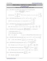 Tuyển tập phương trình lượng giác trong các đề thi đại học có lời giải kèm theo