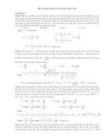 Tổng hợp bài tập và hướng dẫn giải đề thi đại học vật lý 2010-2012 phần điện xoay chiều