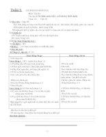 Giáo án Toán + Tiếng Việt lớp 2 ( Tuần 1)