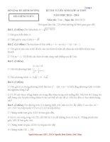 Đề & HDG đề thi tuyển sinh lớp 10 THPT Tỉnh Bình Dương 2013-2014