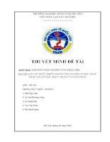 Tổng hợp các bài tiểu luận môn Phương pháp nghiên cứu khoa học