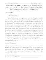 SKKN một số BIỆN PHÁP NHẰM NÂNG CAO CHẤT LƯỢNG HOẠT ĐỘNG của tổ CHUYÊN môn TRONG TRƯỜNG TRUNG học cơ sở lê QUÍ đôn – bến cát – BÌNH DƯƠNG