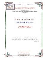 hóa học hữu cơ chuyên đề cacbohiđrat