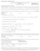 Lời giải chi tiết Vật lý 2013 mã 426