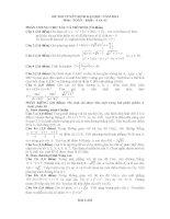 đề và đáp án toán A 2013
