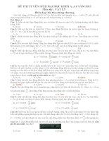 Phân loại đề thi 2013 theo chương