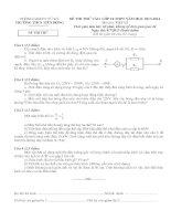 Đề thi thử vật lý vào lớp 10 (8-7-2013)