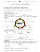Phân loại và giải các dạng câu hỏi và bài tập trong đề ĐH 2013 - Khối A