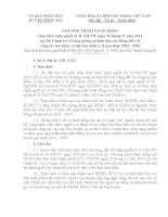Chương trình hành động thực hiện Chỉ thị 21 ngày 22/11/2012 của Trung ương