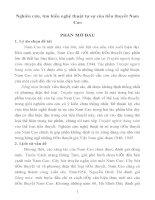 nghiên cứu, tìm hiểu nghệ thuật tự sự của tiểu thuyết nam cao