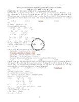giải chi tiết ĐH khối A môn Hóa - Hay