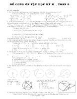 bài tập toán lớp 9 ôn tập học kì 2