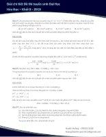 Giải chi tiết đề thi đại học 2013 - Môn Hóa - Khối B - Mã đề 753