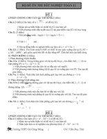 bộ đề ôn thi tốt nghiệp toán 12