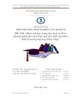 khảo sát thực trạng đọc sách và đề ra phương pháp đọc sách hiệu quả cho sinh viên khoa kinh tế trường đại học đồng tháp