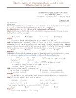 Nhận diện và hướng dẫn giải chi tiết đề thi đại học Môn Hóa học - Khối A, 2013 - Thầy Phạm Ngọc Sơn