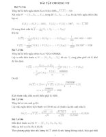 Giải bài tập chương 7 xác suất thống kê trong sách bài tập