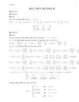 Giải bài tập chương 2 xác suất thống kê trong sách bài tập