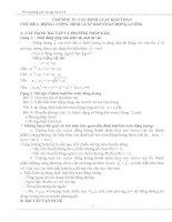 phương pháp giải bài tập vật lý lớp 10 học kì 2