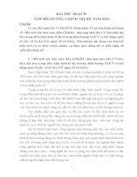 BAI THU HOACH  LOP BOI DUONG CHINH TRI HE NAM 2013.doc