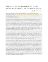 ĐIỀU GÌ SÃY RA  NẾU BẠN KHÔNG TIN TƯỞNG NHỮNG TRANG WEBSITE HỌC TIẾNG ANH ONLINE.docx