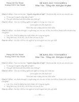 ĐỀ THI VÀO LỚP CHỌN KHỐI 6 MÔN TIẾNG VIỆT LỚP 5