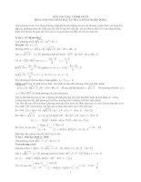 Giải pt vô tỉ  bằng pp đặt ẩn phụ không hoàn toàn