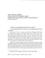 Một số đặc điểm của từ ngữ cổ trên báo chí tiếng Việt ở Áutralia