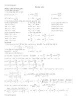 Công thức và bài tập về phương trình lượng giác