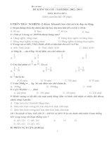Đề kiểm tra Toán 4 Hè (tổng hợp các dạng cơ bản)