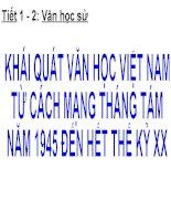 Khai quat van hoc Viet Nam tu Cach mang thang Tam nam 1945 den het the ki XX