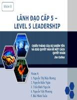 báo cáo tiểu luận môn nghệ thuật lãnh đạo lãnh đạo cấp 5 chiến thắng của sự khiêm tốn và quyết đoán giải quyết vấn đề