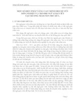 BIỆN PHÁP NÂNG CAO TRÌNH ĐỘ CHUYÊN MÔN,NGHIỆP VỤ CHO ĐỘI NGŨ GIÁO VIÊN