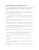 15 điều phụ nữ hiện đại cần có