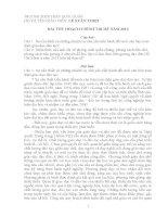 Bài thu hoạch chính trị hè 2013 Quảng Nam