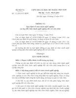 Thông tư số 12-2012-BNV-TT quy định chức danh nghề nghiệp viên chức