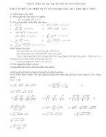những bài toán về căn thức bậc hai