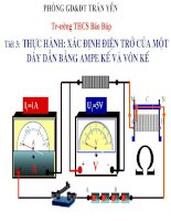 Bài 3 thực hành xác định điện trở của một