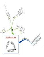 sơ đồ tư duy: Bài: Tỉ số lượng giác góc nhọn
