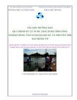 tài liệu hƣớng dẫn qui trình xử lý nƣớc thải nuôi tôm công nghiệp bằng tảo tetraselmis sp. và nhuyễn thể hai mảnh vỏ