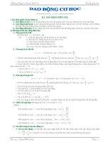 Lí thuyết và bài tập dao động cơ