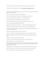 Câu hỏi luyện thi Đường lên đỉnh Olympia 14