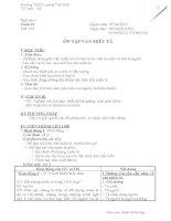 Thiết kế bài giảng Ngữ Văn 6 - tuần 32