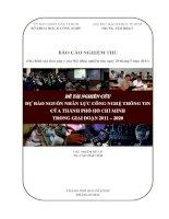 dự báo nguồn nhân lực công nghệ thông tin của thành phố hồ chí minh trong giai đoạn 2011 - 2020