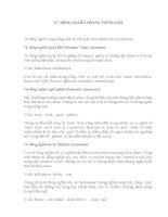 Bài tập về từ đồng nghĩa trong Tiếng Anh