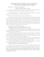 Bài tham luận về Học tập và làm theo tấm gương đạo đức Hồ Chí Minh